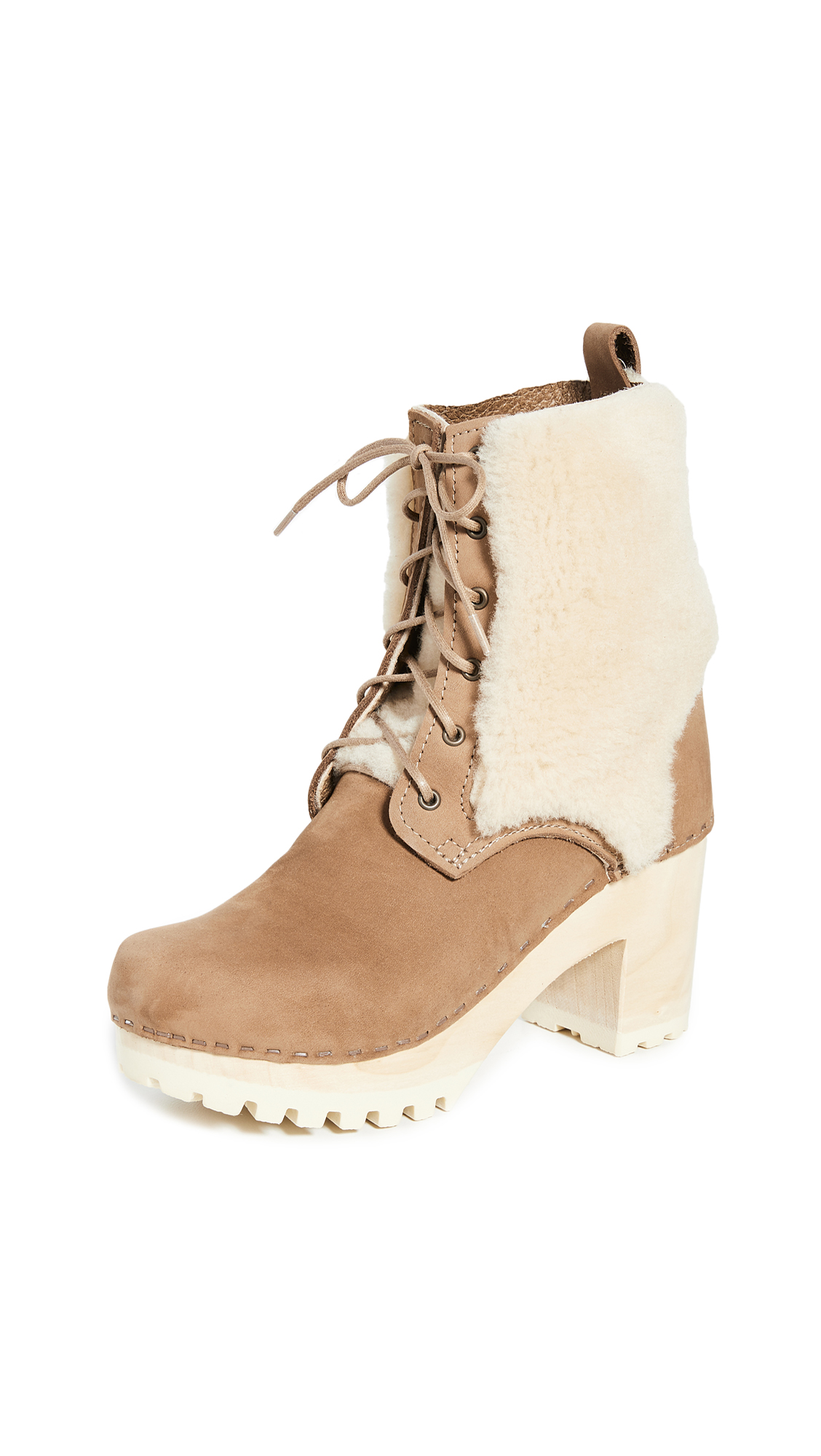 Buy No.6 online - photo of No.6 Audubon High Tread Lace Up Shearling Boots