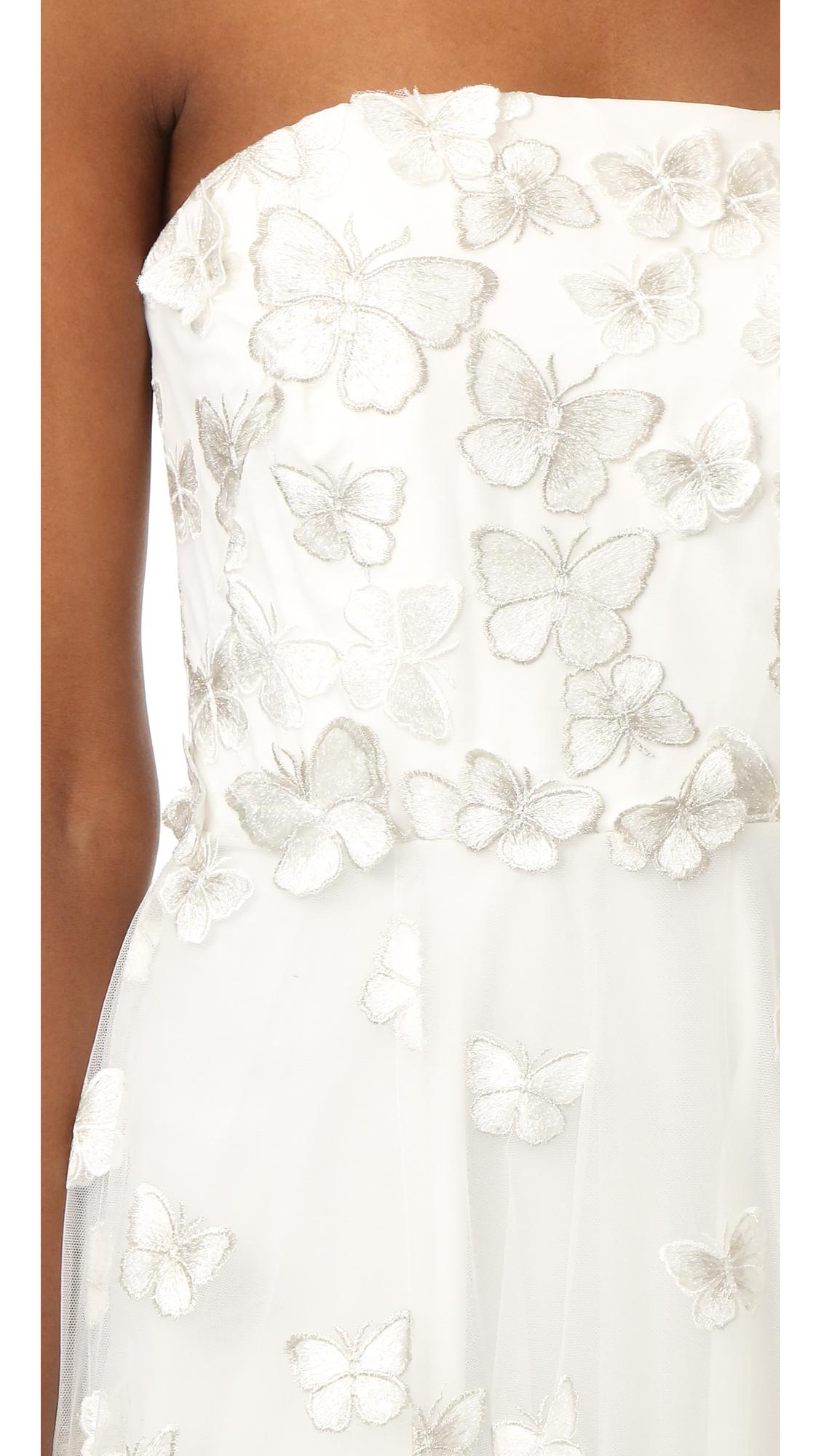 adb18ae1 Marchesa Notte Strapless Butterfly Dress | SHOPBOP