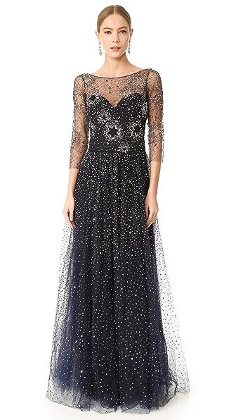 Marchesa Notte Вечернее платье из тюля