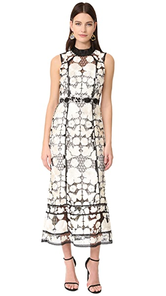 Marchesa Notte Sleeveless Floral Gown