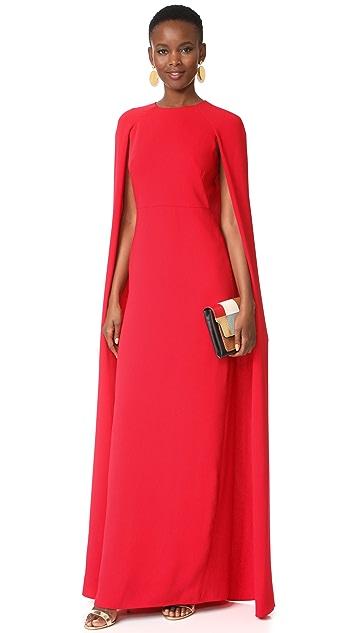 Marchesa Notte Cape Gown