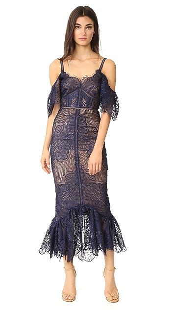 Marchesa Notte Off Shoulder Gown