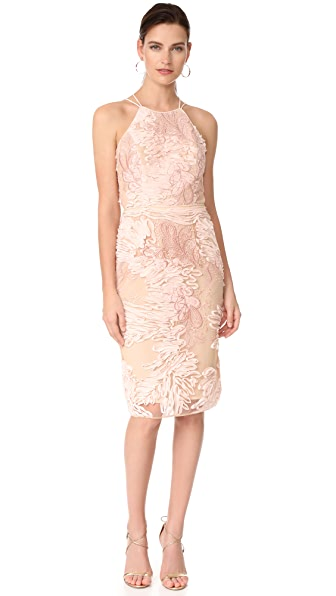 Marchesa Notte Cocktail Dress - Blush