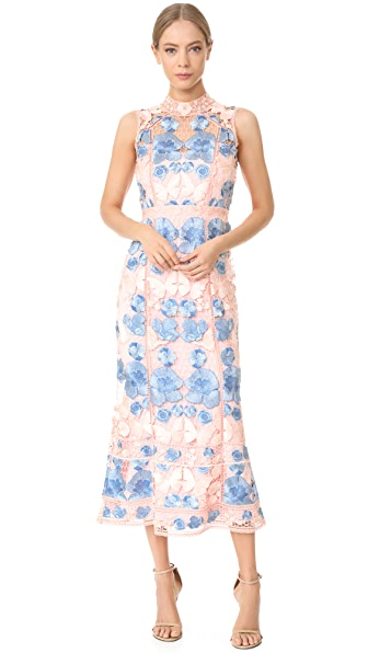 Marchesa Notte Sleeveless Floral Gown - Blush