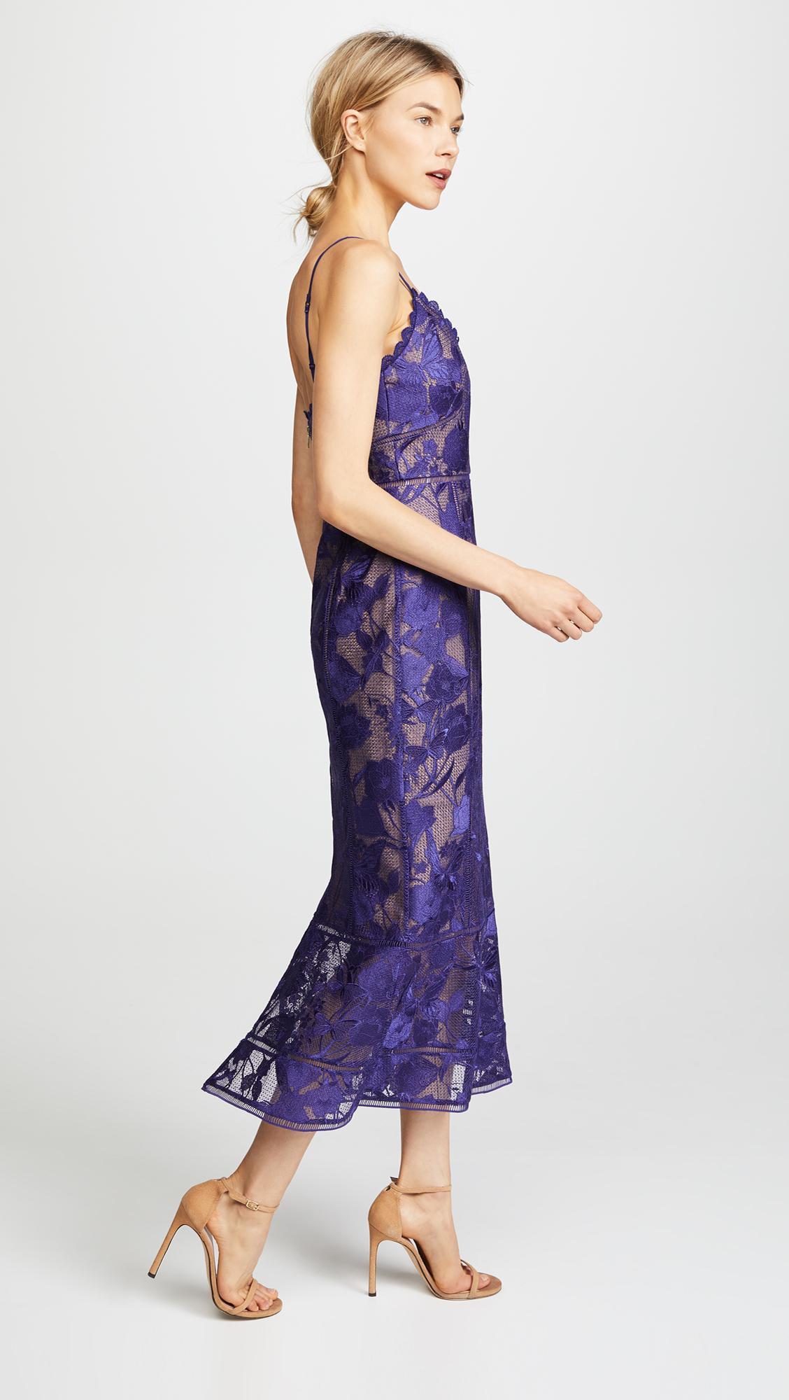 7c104977e1 Marchesa Notte Tea Length Cocktail Dress