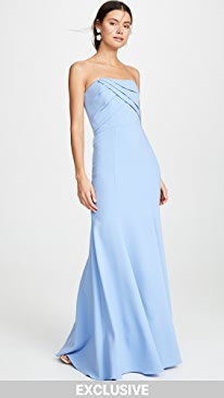 e5184b32e4 Marchesa Notte. Sleeveless Draped Bodice Gown