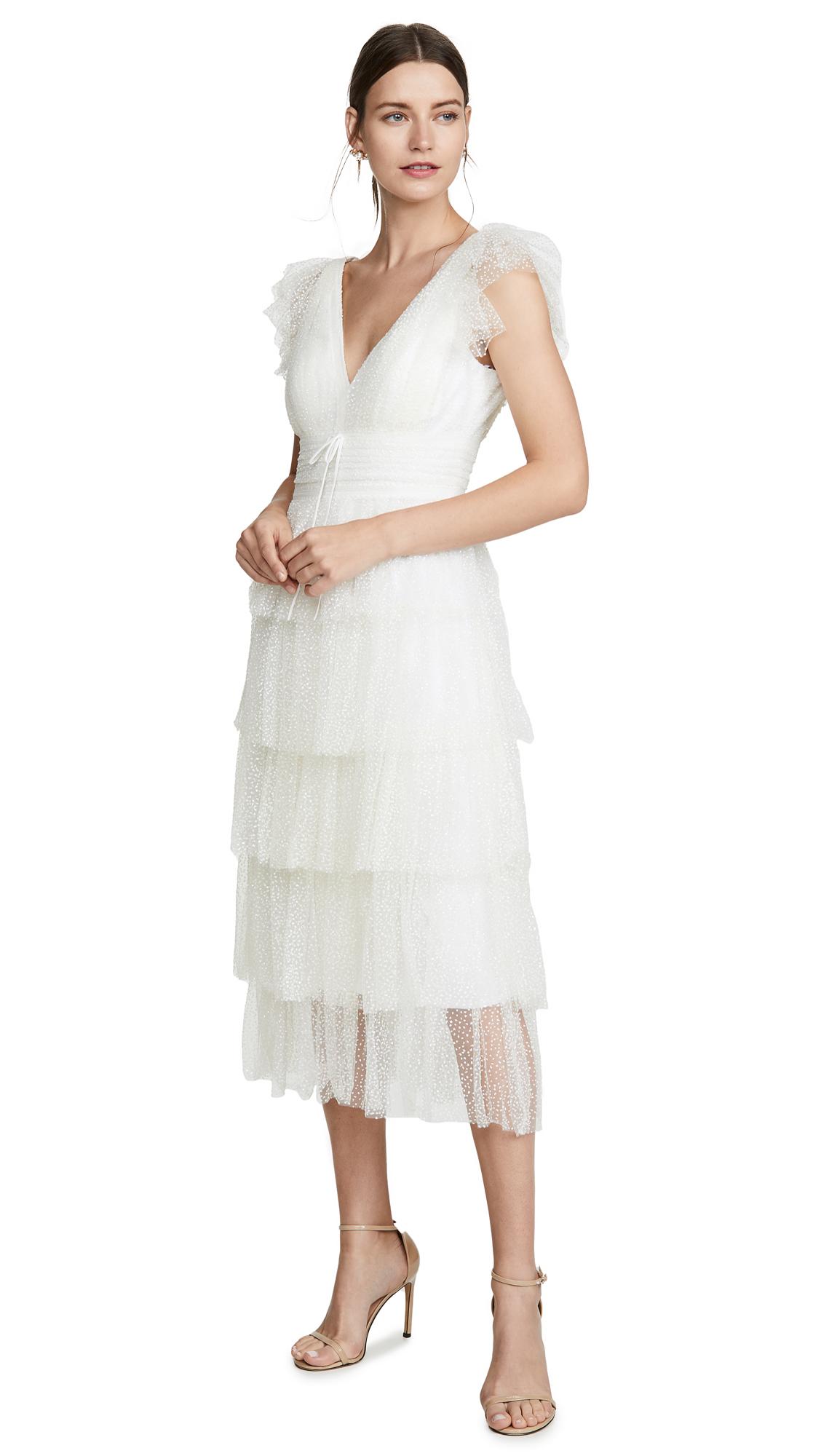Buy Marchesa Notte online - photo of Marchesa Notte Flutter Sleeve Cocktail Dress