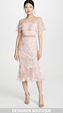 6e3238e9 Marchesa Notte. Off Shoulder Cocktail Dress