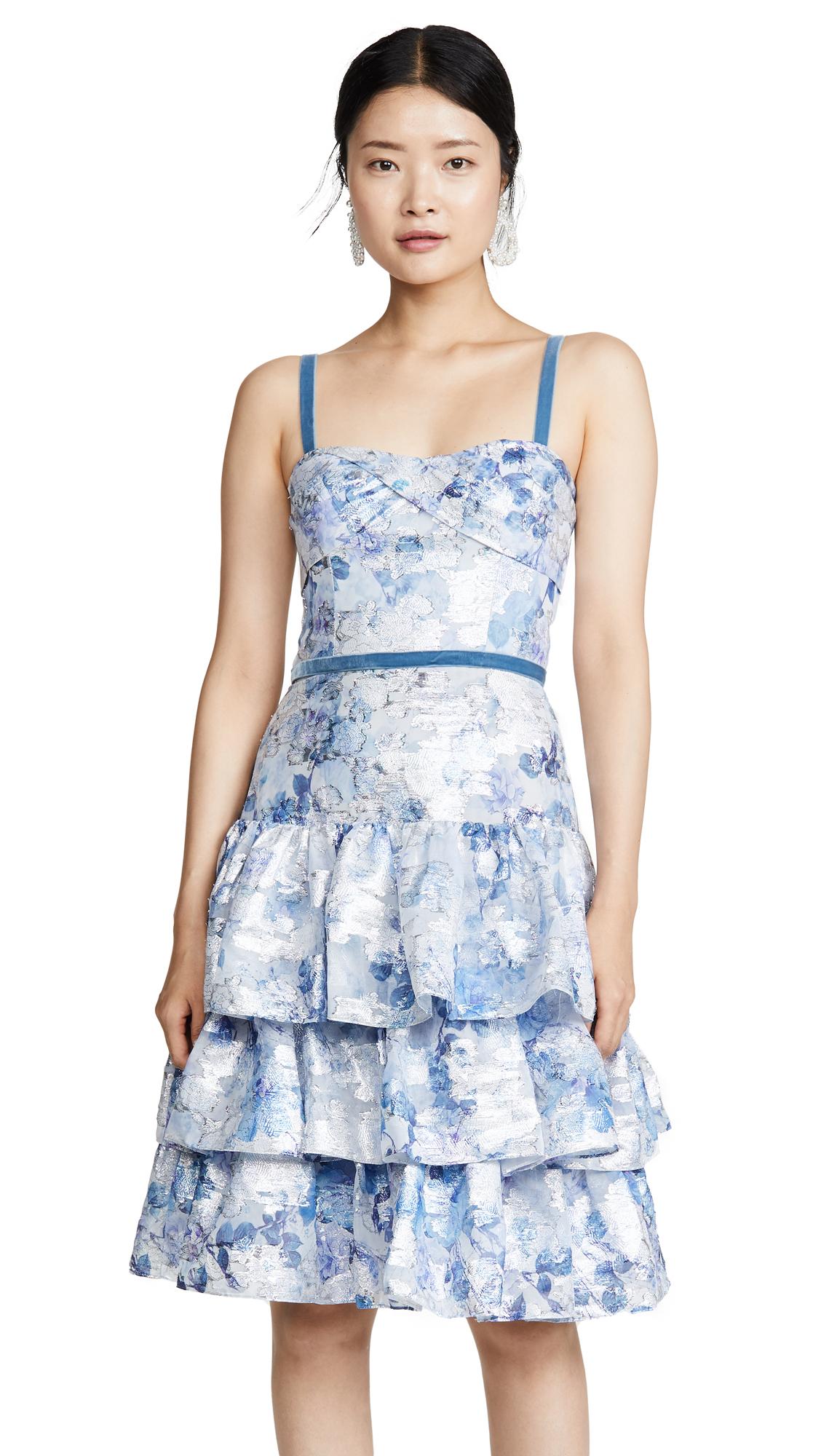 Buy Marchesa Notte online - photo of Marchesa Notte Sleeveless Metallic Dress