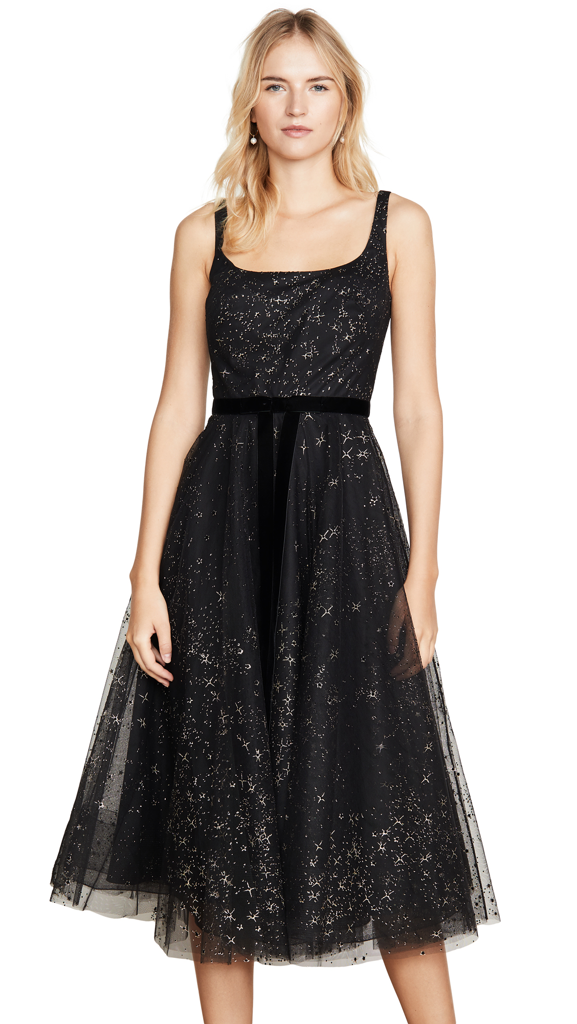 Buy Marchesa Notte Glitter Tulle Tea Length Gown online beautiful Marchesa Notte Dresses, Strapless