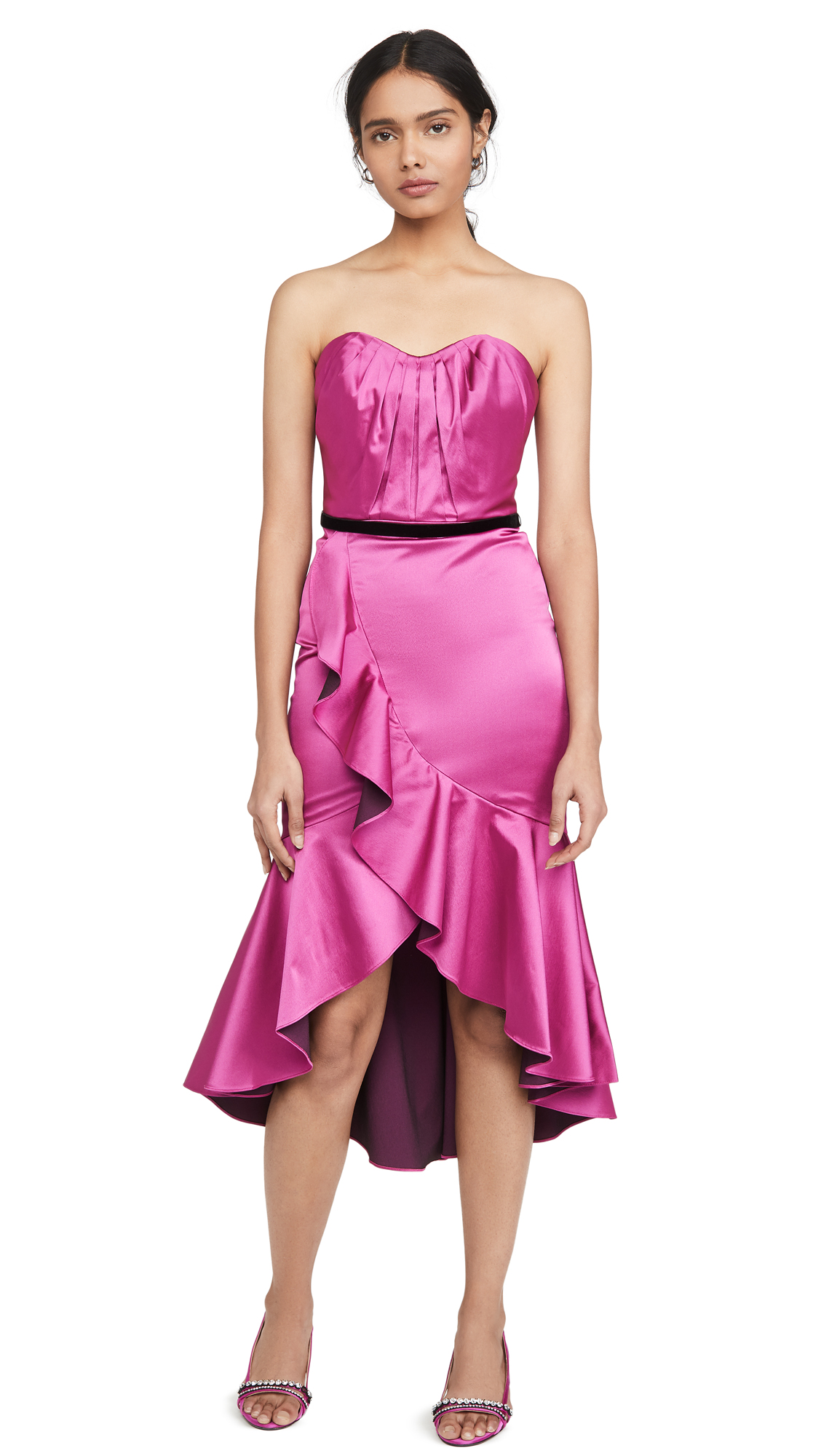 Buy Marchesa Notte Strapless Draped Sweetheart Cocktail Dress online beautiful Marchesa Notte Dresses, Strapless