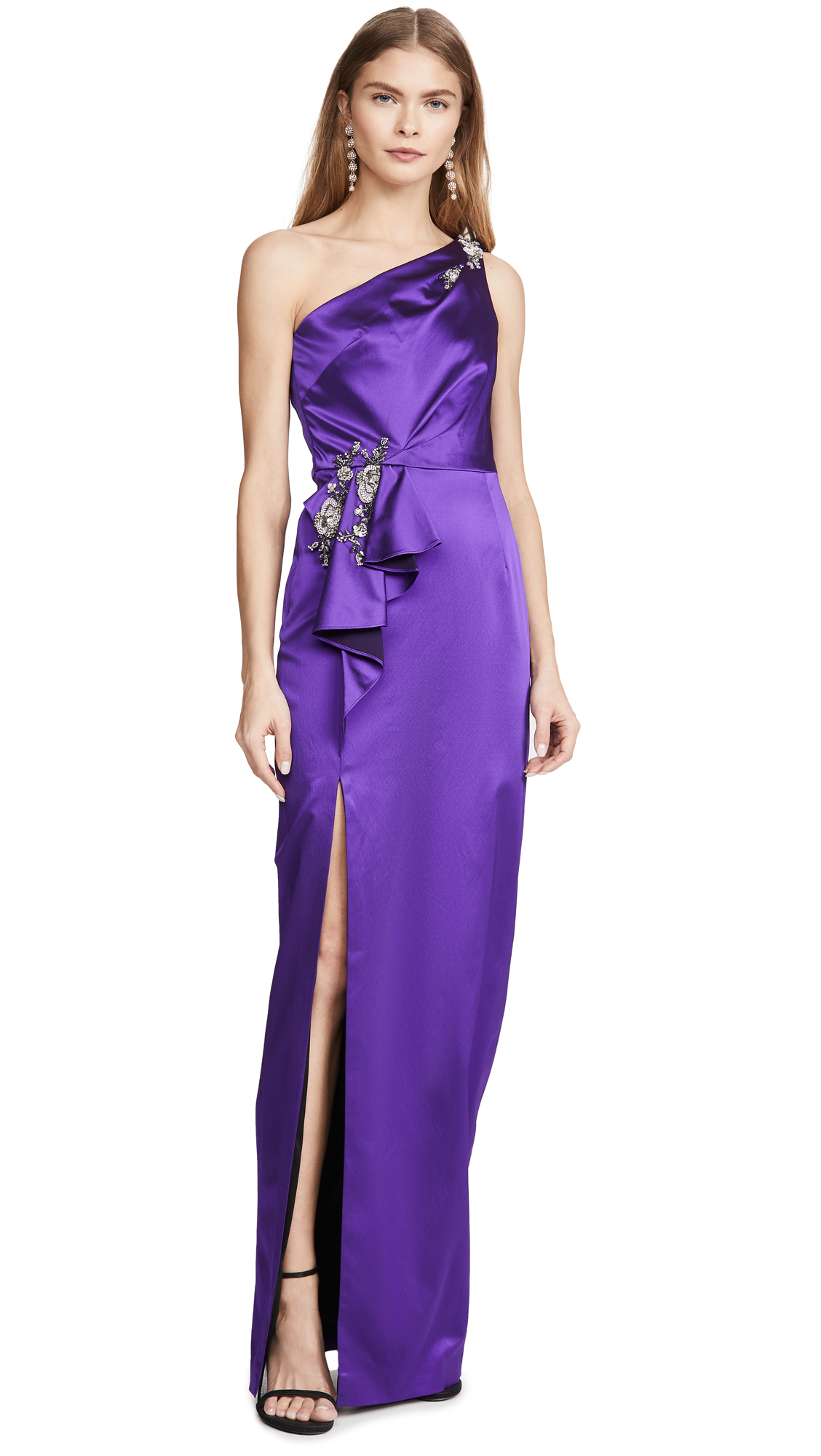 Buy Marchesa Notte online - photo of Marchesa Notte Stretch Satin Gown