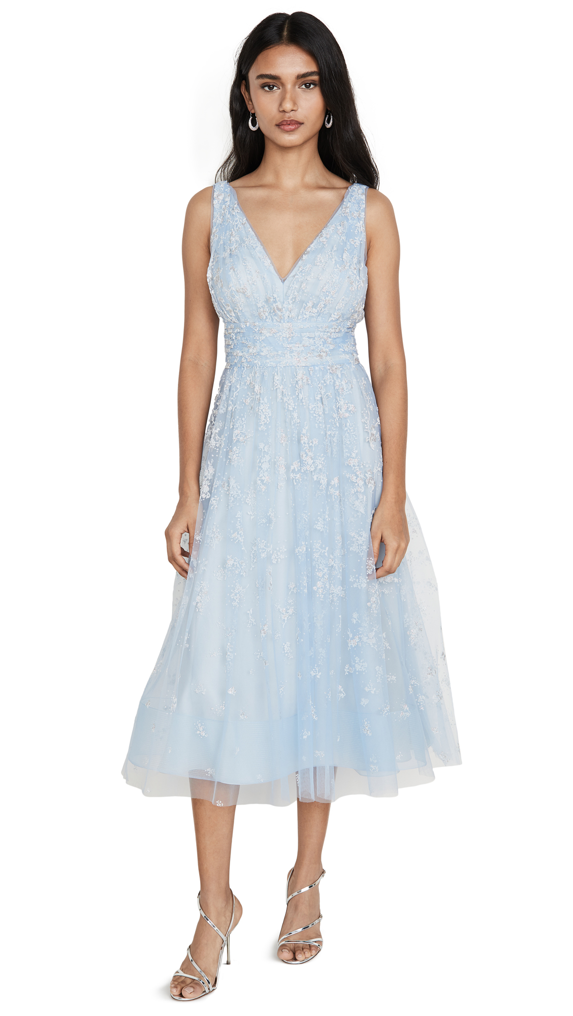 Buy Marchesa Notte Sleeveless Tulle Tea Length Gown online beautiful Marchesa Notte Dresses, Strapless