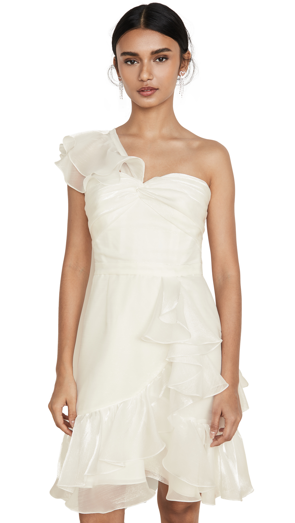 Buy Marchesa Notte online - photo of Marchesa Notte One Shoulder Cocktail Dress