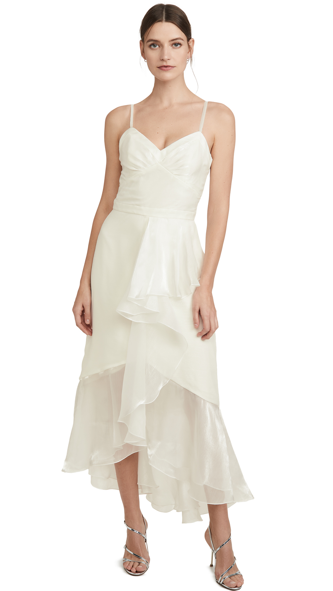 Buy Marchesa Notte online - photo of Marchesa Notte High Low Tea Length Gown