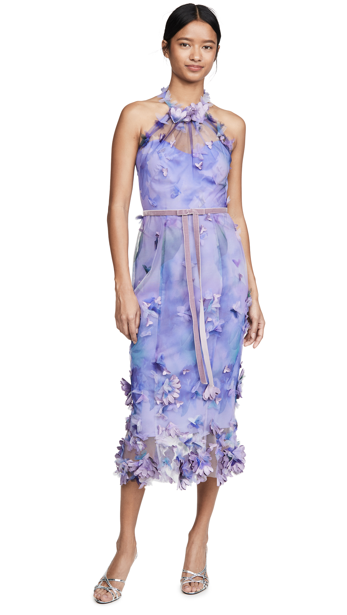 Buy Marchesa Notte Sleeveless Tulle Halter Dress online beautiful Marchesa Notte Dresses, Strapless