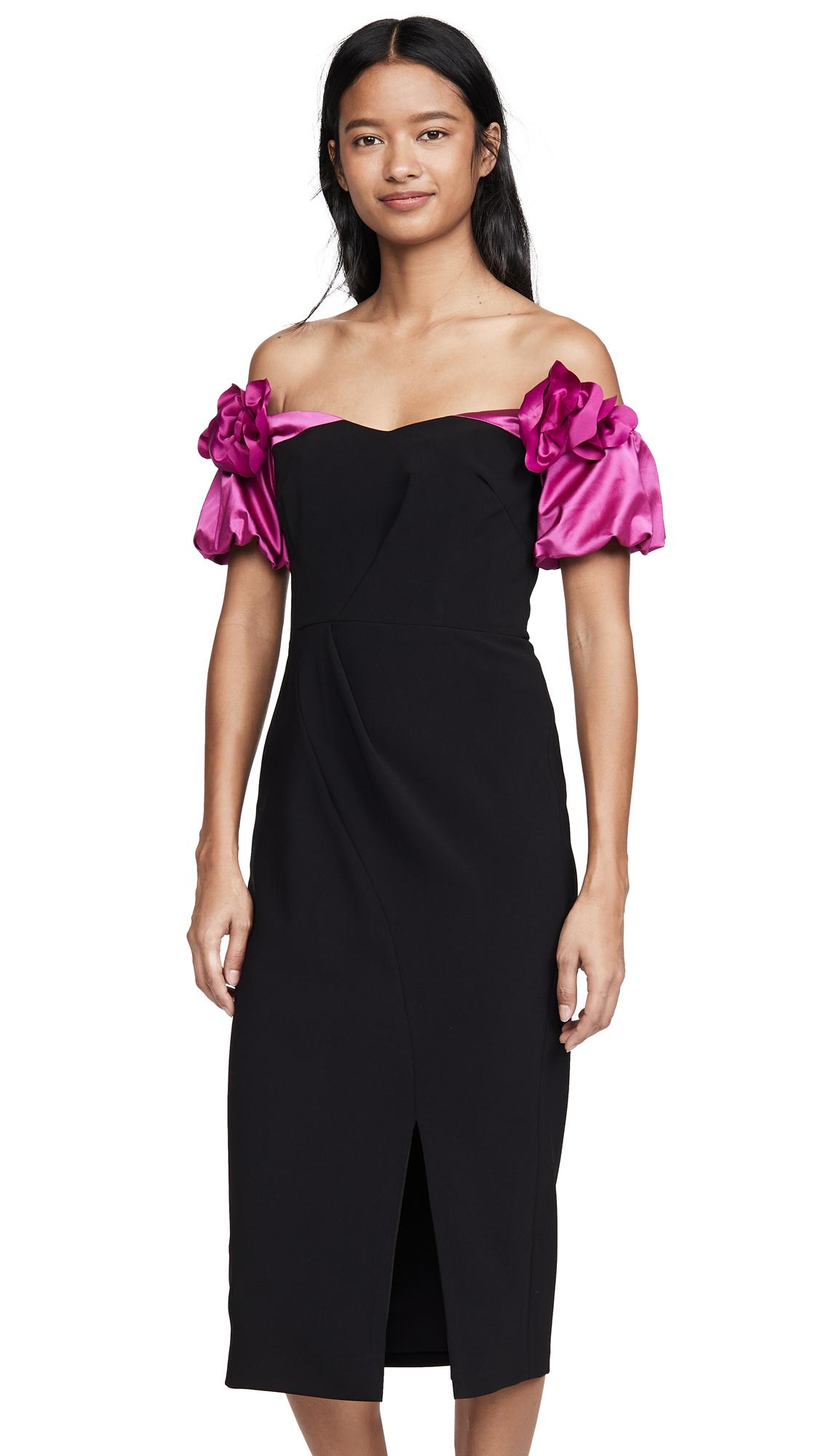 Buy Marchesa Notte online - photo of Marchesa Notte Off Shoulder Cocktail Dress