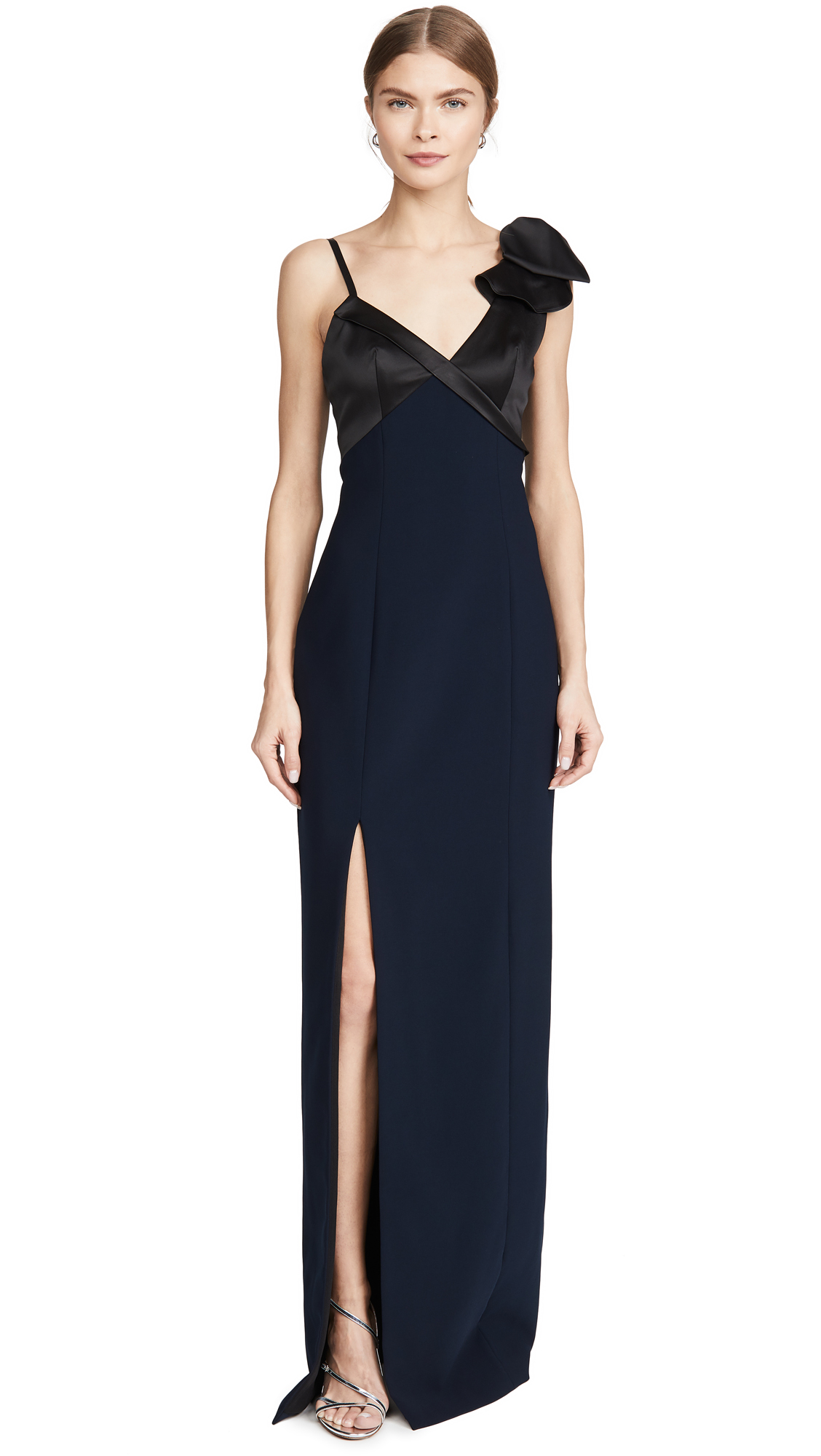 Buy Marchesa Notte online - photo of Marchesa Notte Sleeveless Stretch Satin Gown
