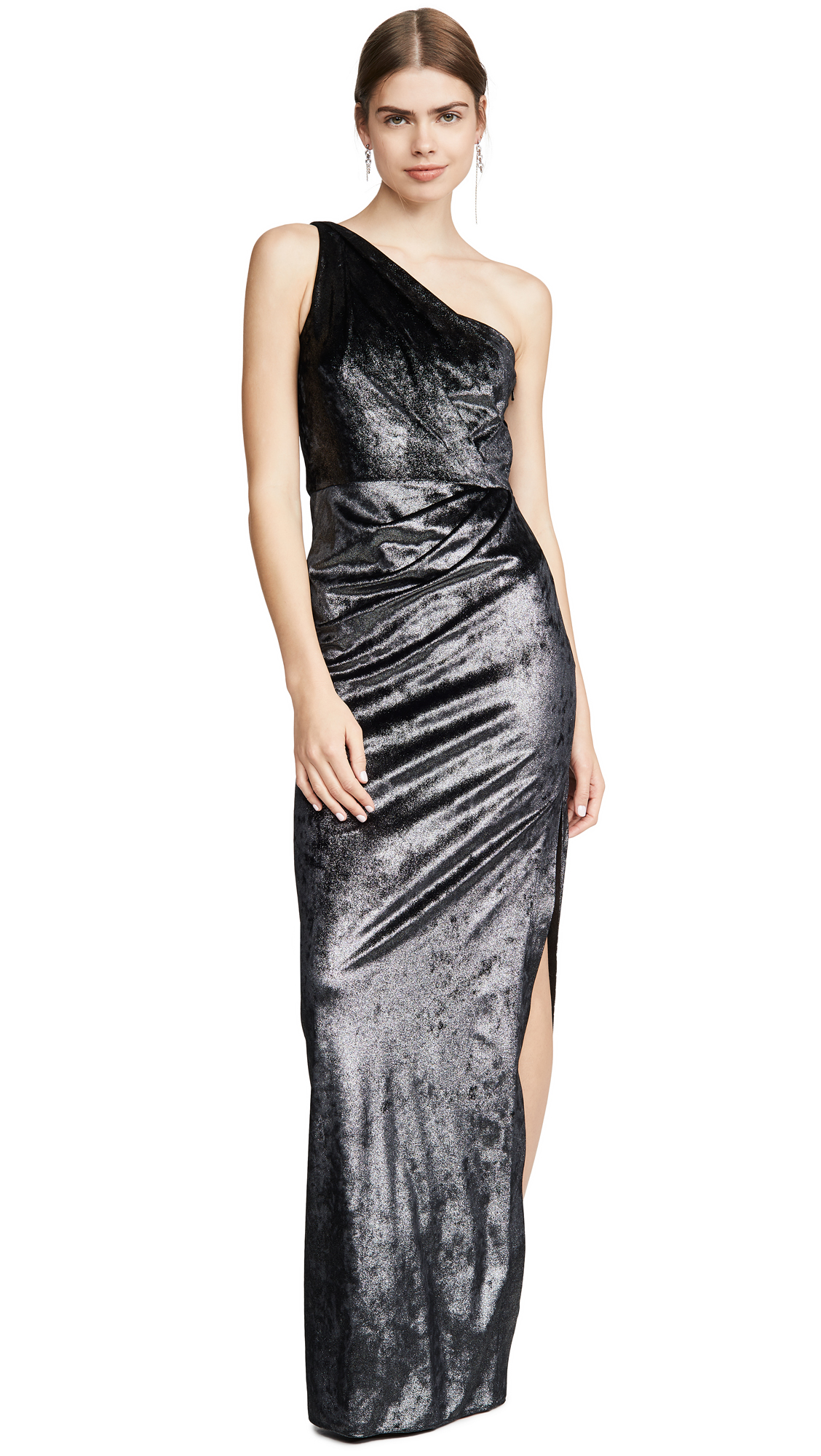 Buy Marchesa Notte online - photo of Marchesa Notte One Shoulder Draped Gown