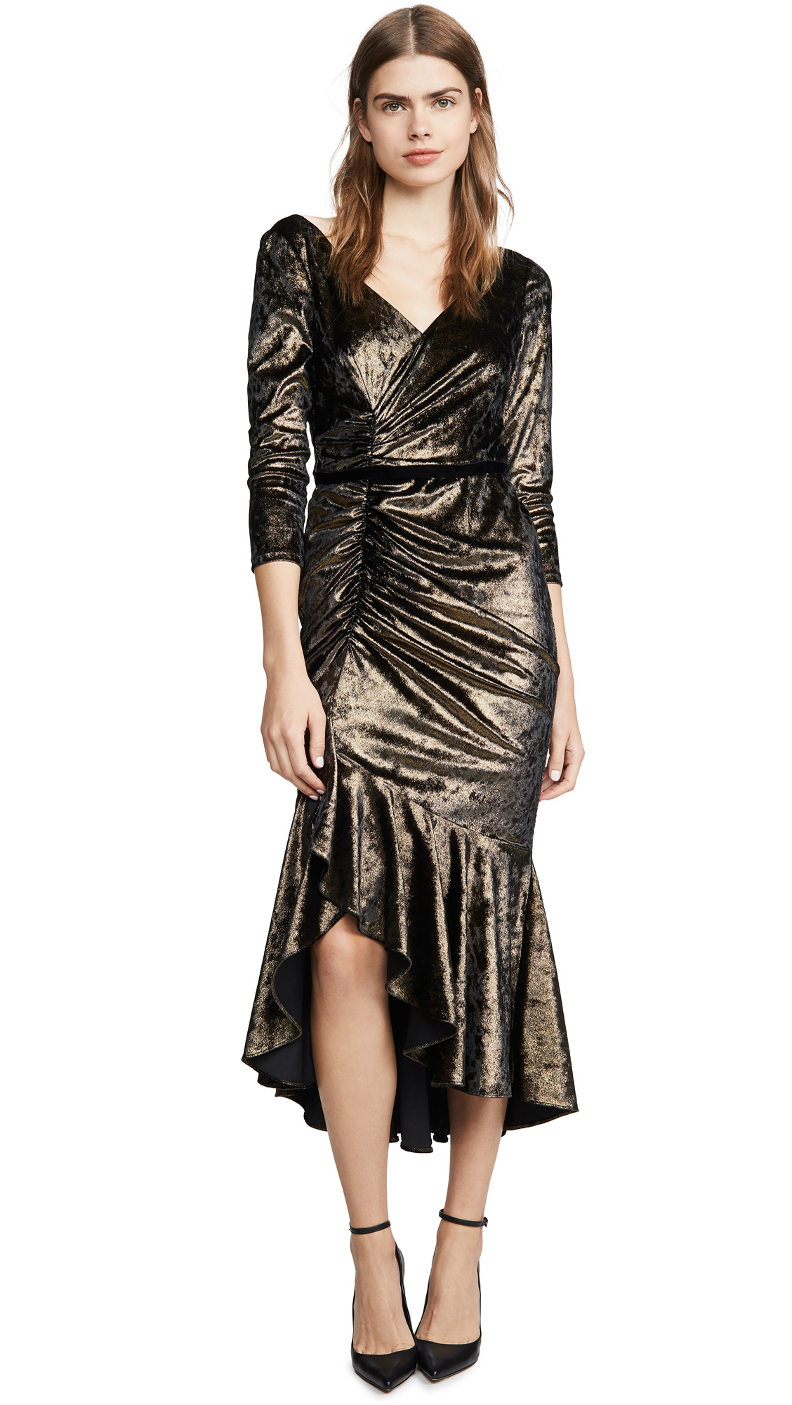 Buy Marchesa Notte online - photo of Marchesa Notte Shirred Cocktail Dress