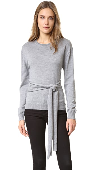 No. 21 Sweater with Front Tie - Grey