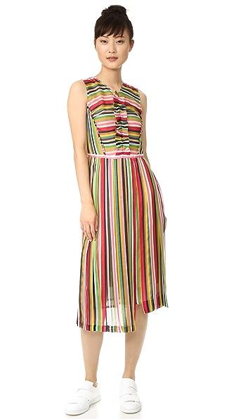 No. 21 Striped Sleeveless Dress - Striped