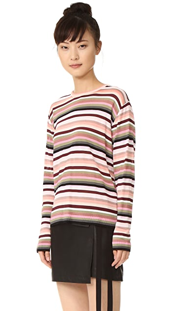 No. 21 Striped Long Sleeve Top