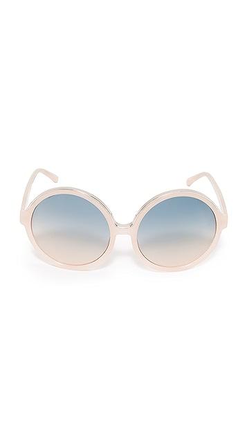 No. 21 Oversized Round Sunglasses