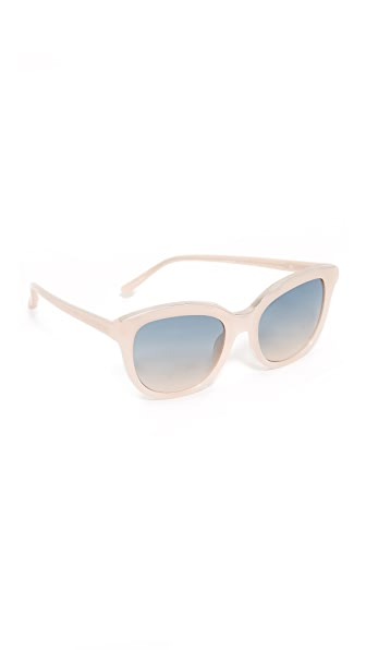 No. 21 Oval Cat Sunglasses In Milky Pink/Blue