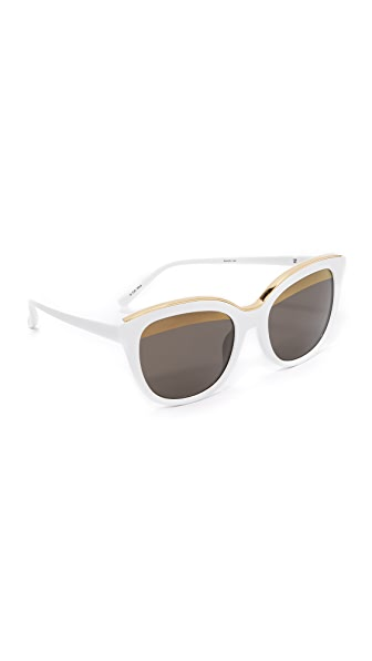 No. 21 Oval Cat Split Sunglasses