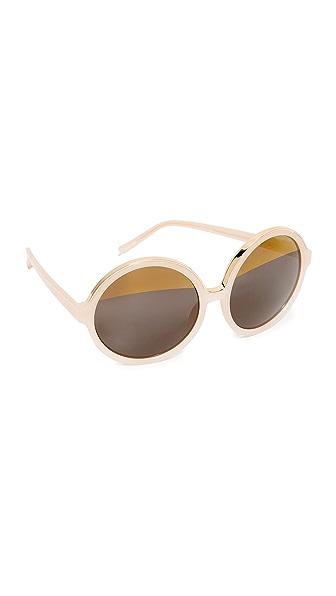 No. 21 Oversized Round Split Sunglasses