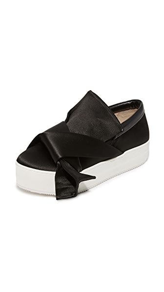 No. 21 Sneakers with Bow - Black