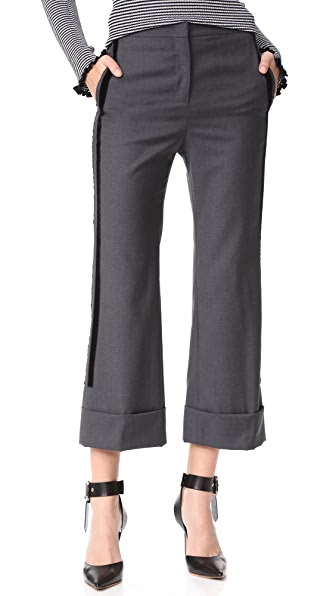 No. 21 Trousers In Grigio Scuro Melange