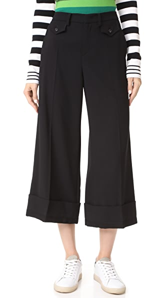 No. 21 Cropped Trousers - Black