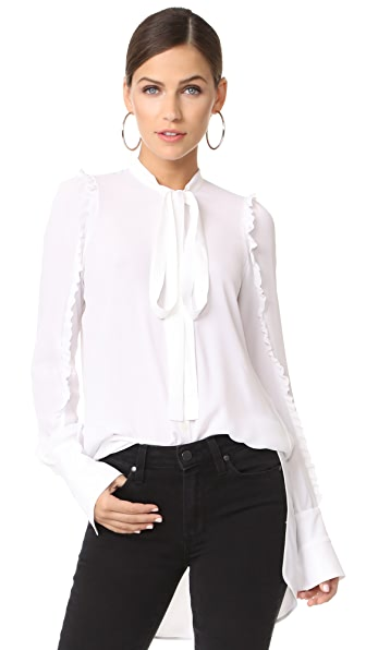 No. 21 LS Blouse - White