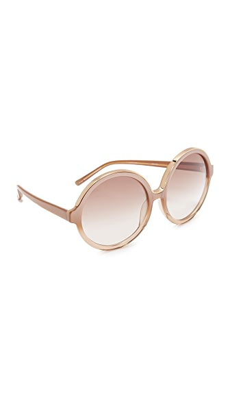 No. 21 Round Oversized Sunglasses - Honey Pearl/Brown