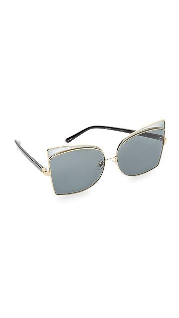 No. 21 Butterfly Oversized Sunglasses