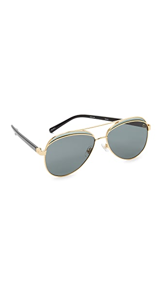 No. 21 Aviator Sunglasses - Gold/Grey