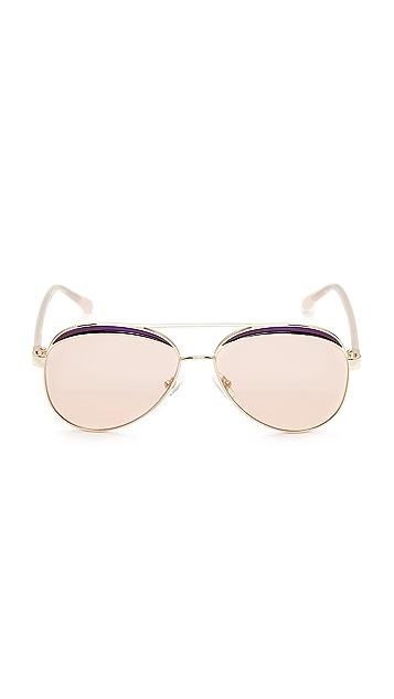 No. 21 Mirrored Aviator Sunglasses
