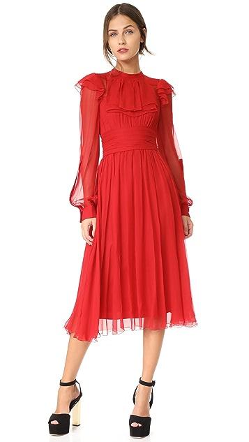 No. 21 Long Sleeve Ruffle Dress