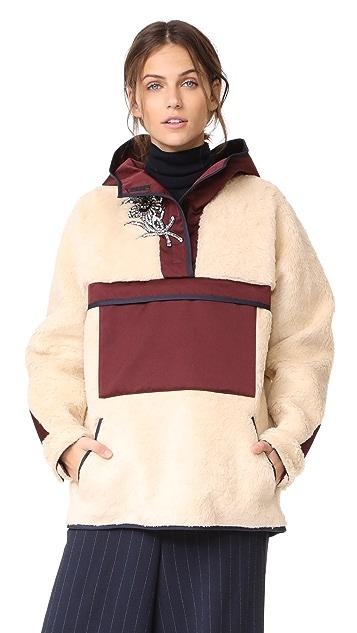 No. 21 Faux Fur Pullover Anorak