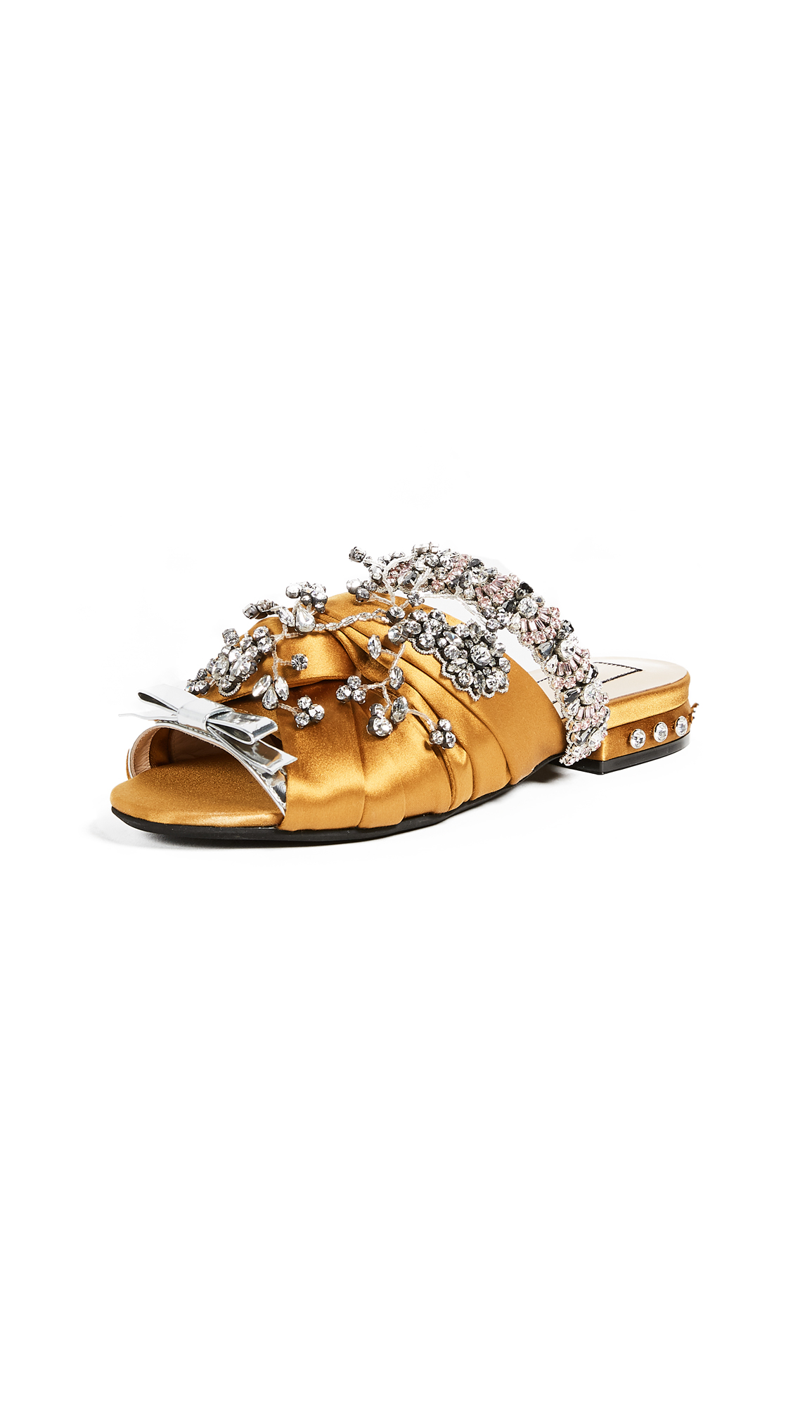 No. 21 Satin Sandals - Yellow