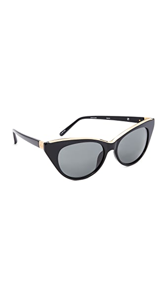 No. 21 Cat Eye Sunglasses - Black/Grey
