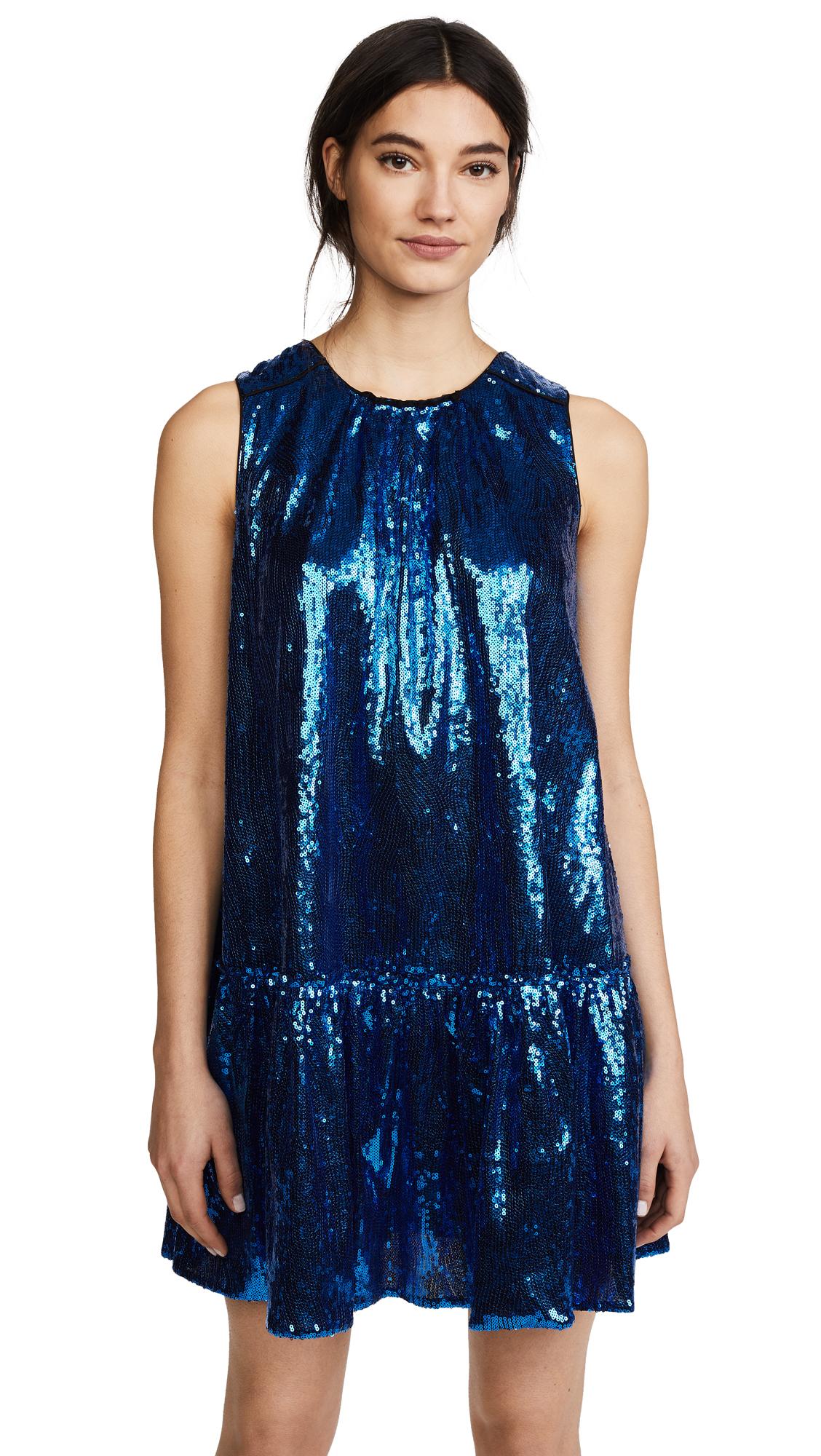 No. 21 Sleeveless Mini Dress In Blue