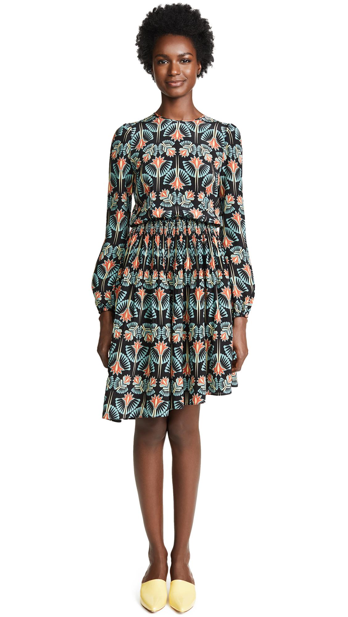 No. 21 Asymmetrical Hem Dress In Multi