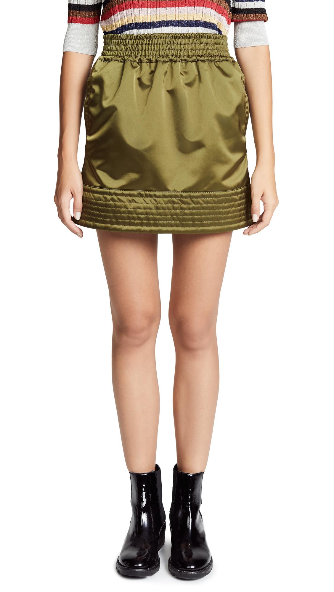 Nº21 High Shine Sporty Skirt - Green