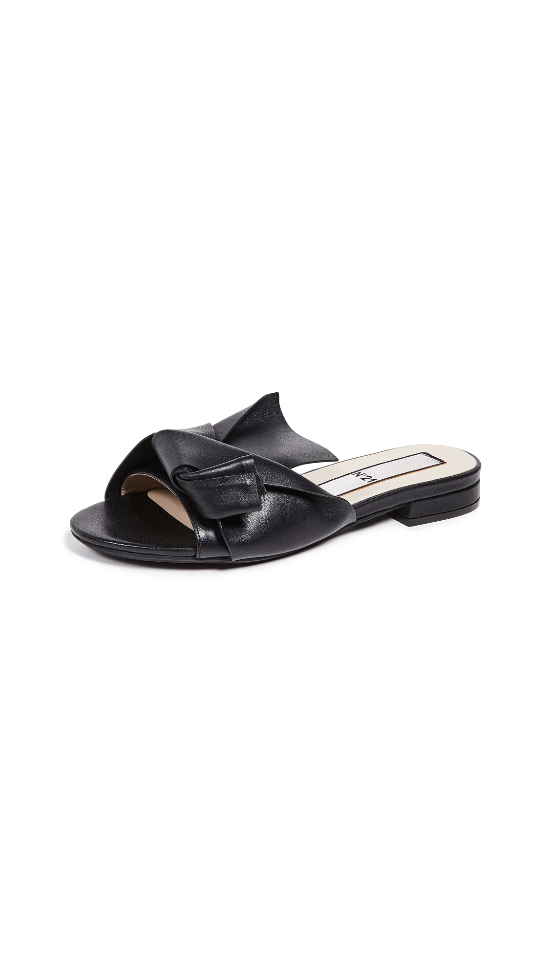 No. 21 Knot Sandal Slides - Black