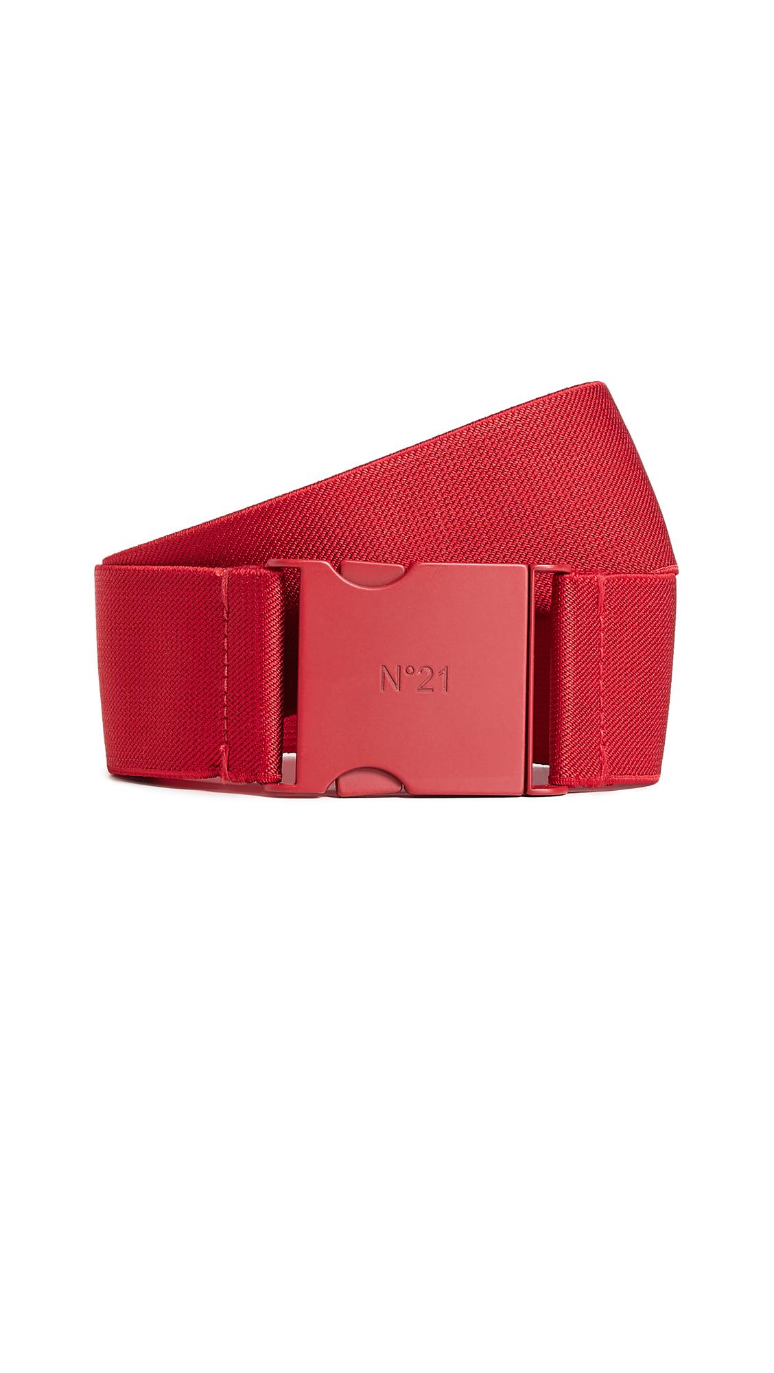 Elastic Buckle Belt in Red