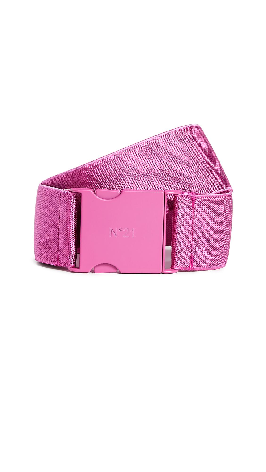 Elastic Buckle Belt in Pink