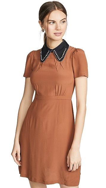 No. 21 Contrast Collar Mini Dress